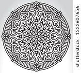 vector indian mandala | Shutterstock .eps vector #1222607656