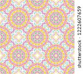 seamless pattern tile with... | Shutterstock .eps vector #1222607659