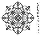 vector indian mandala | Shutterstock .eps vector #1222607686