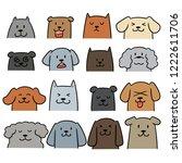 Stock vector vector set of dog 1222611706