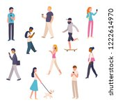 diverse set of urban people... | Shutterstock .eps vector #1222614970