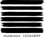 grunge paint stripe . vector... | Shutterstock .eps vector #1222618099