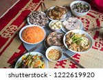 a traditional vietnamese meal... | Shutterstock . vector #1222619920