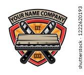 design logo screen printing... | Shutterstock .eps vector #1222620193