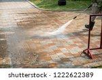 outdoor floor cleaning with a...   Shutterstock . vector #1222622389