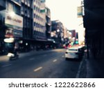 blurred of car on road. street... | Shutterstock . vector #1222622866
