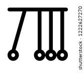 newton pendulum experiment | Shutterstock .eps vector #1222627270