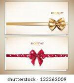 collection of gift cards and... | Shutterstock .eps vector #122263009
