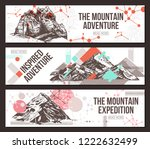 vector set of three horizontal... | Shutterstock .eps vector #1222632499