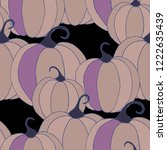 halloween background with... | Shutterstock .eps vector #1222635439