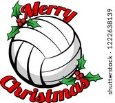 volleyball surrounded by the... | Shutterstock .eps vector #1222638139