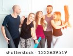 happy group of people from men... | Shutterstock . vector #1222639519