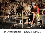 The Workers Making Rattan...