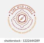 outdoor native wild lands is a... | Shutterstock .eps vector #1222644289