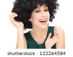 beautiful woman with afro | Shutterstock . vector #122264584