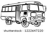 sketch of big old bus. | Shutterstock .eps vector #1222647220