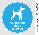 "mandatory sign  ""assistance... | Shutterstock .eps vector #1222647280"