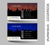 business cards design two color ... | Shutterstock .eps vector #1222650226