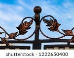 wrought iron gates  ornamental... | Shutterstock . vector #1222650400