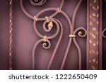 wrought iron gates  ornamental... | Shutterstock . vector #1222650409