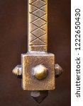 wrought iron gates  ornamental... | Shutterstock . vector #1222650430