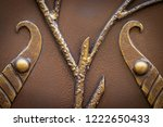 wrought iron gates  ornamental... | Shutterstock . vector #1222650433