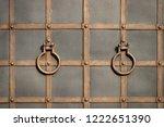 wrought iron gates  ornamental... | Shutterstock . vector #1222651390