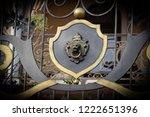 wrought iron gates  ornamental... | Shutterstock . vector #1222651396