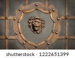 wrought iron gates  ornamental... | Shutterstock . vector #1222651399
