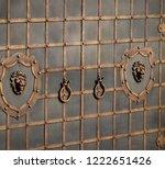 wrought iron gates  ornamental... | Shutterstock . vector #1222651426