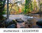 autumn forest river landscape....   Shutterstock . vector #1222654930