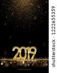 2019 new year luxury design... | Shutterstock .eps vector #1222655359