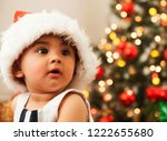 portrait of an adorable baby... | Shutterstock . vector #1222655680