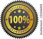 100  satisfaction guarantee | Shutterstock . vector #122266003