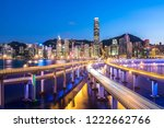 busy traffic road with city... | Shutterstock . vector #1222662766