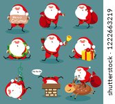 santa claus  christmas set | Shutterstock .eps vector #1222663219