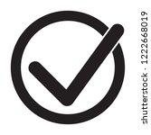 tick icon vector symbol ... | Shutterstock .eps vector #1222668019