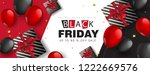 black friday sale banner layout ... | Shutterstock .eps vector #1222669576