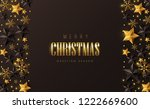 vector merry christmas and... | Shutterstock .eps vector #1222669600