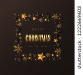 vector merry christmas and... | Shutterstock .eps vector #1222669603