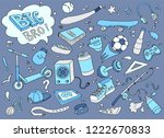 hand drawn set of teenage... | Shutterstock .eps vector #1222670833