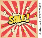 sale poster in comic book or... | Shutterstock .eps vector #1222671469