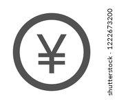 yen glyph icon | Shutterstock .eps vector #1222673200