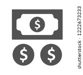 profit glyph icon | Shutterstock .eps vector #1222673233