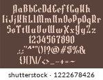 handrawn grunge white font.... | Shutterstock .eps vector #1222678426