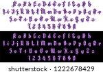 handrawn grunge violet font... | Shutterstock .eps vector #1222678429