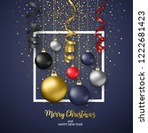 merry christmas and happy new... | Shutterstock .eps vector #1222681423