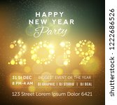 party flyer with golden text... | Shutterstock .eps vector #1222686526