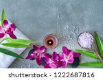 thai spa.  top view of hot...   Shutterstock . vector #1222687816