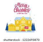 house two story cottage for... | Shutterstock .eps vector #1222693870